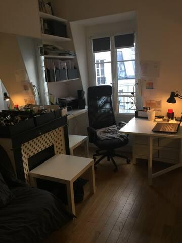 Studio lumineux et calme 16ème