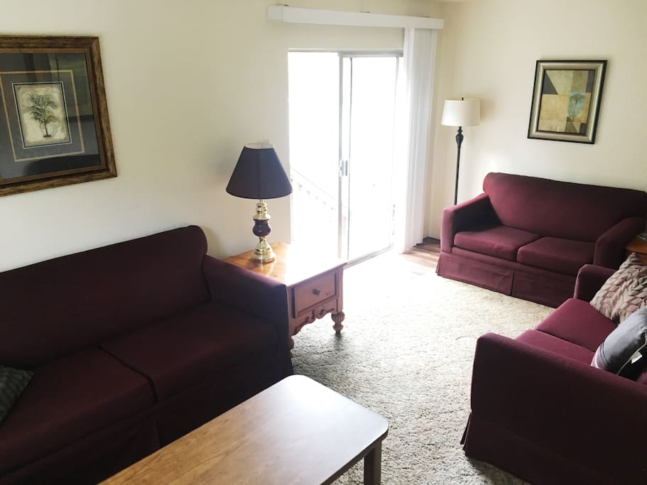 Living room with sofa sleepers.