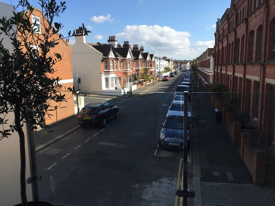 view down Stoneham Road from lounge balcony