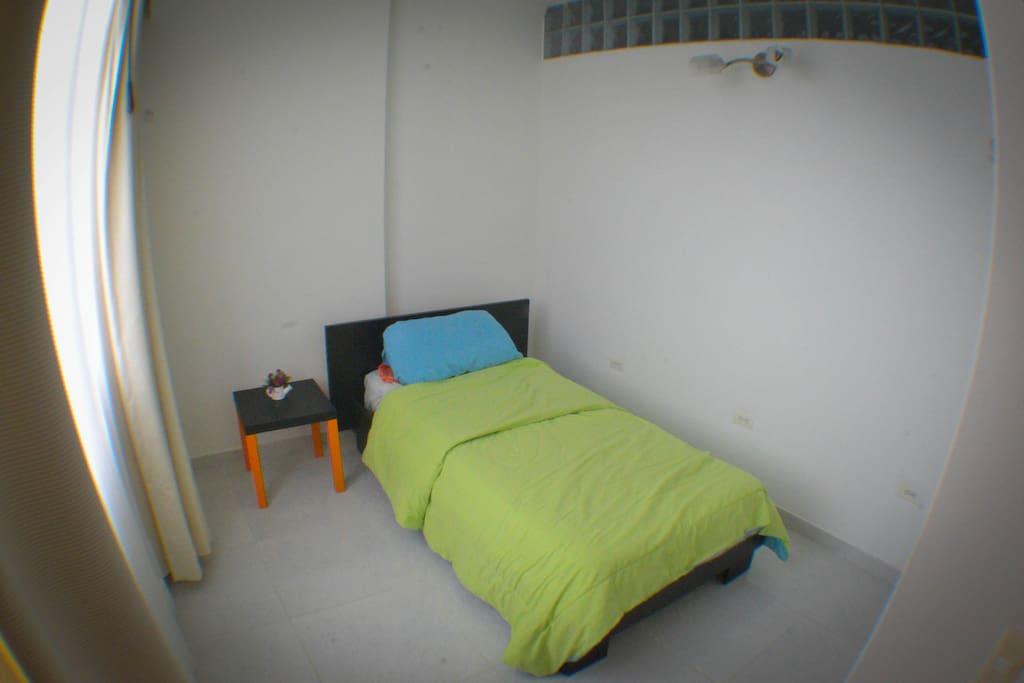 A cozy bed!