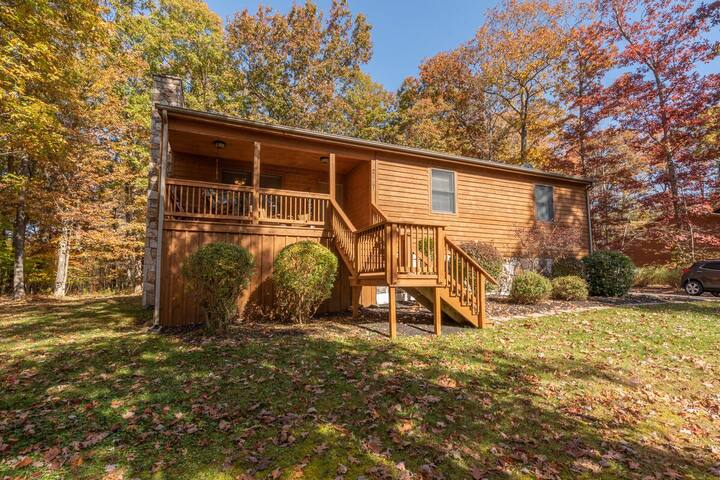 NEW! Lake access home w/ dock slip, hot tub, wood fireplace & fire pit!