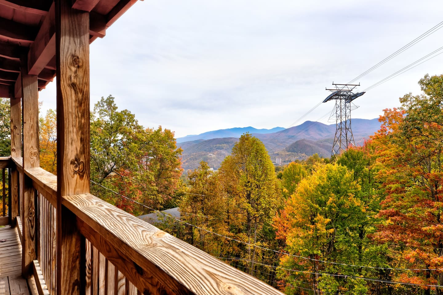 Gorgeous view of fall colors from the deck