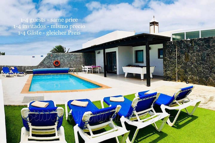 Villa Neptuno, private pool, sea view, sat-tv,wifi