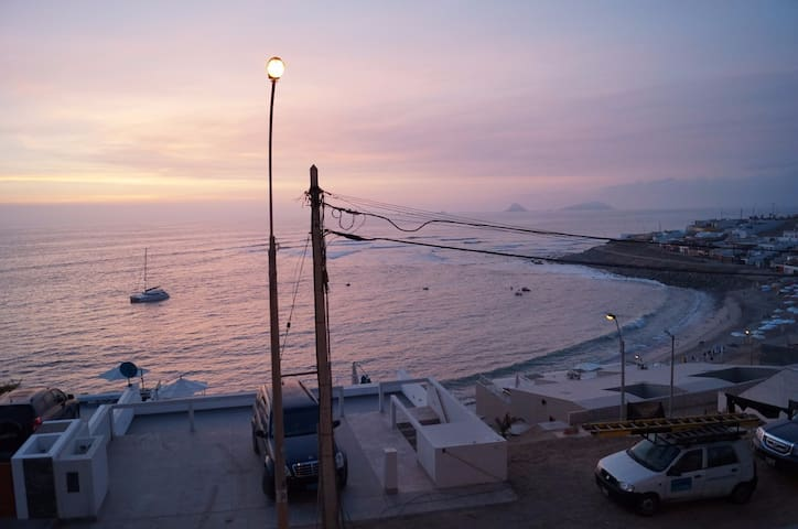Lugar de descanso frente al mar.
