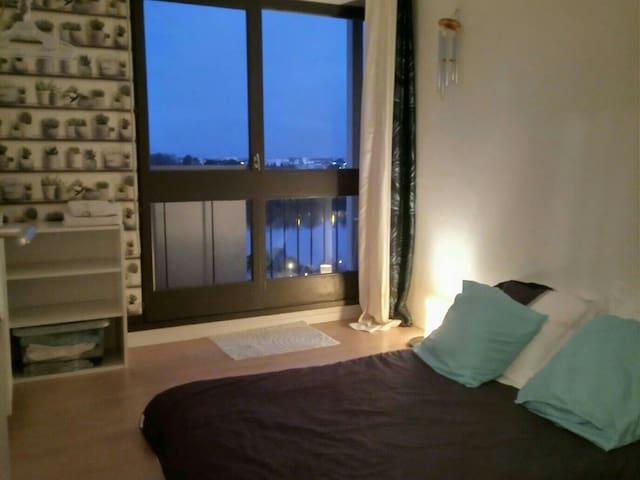 Style asiatique : chambre sur l'île de Nantes