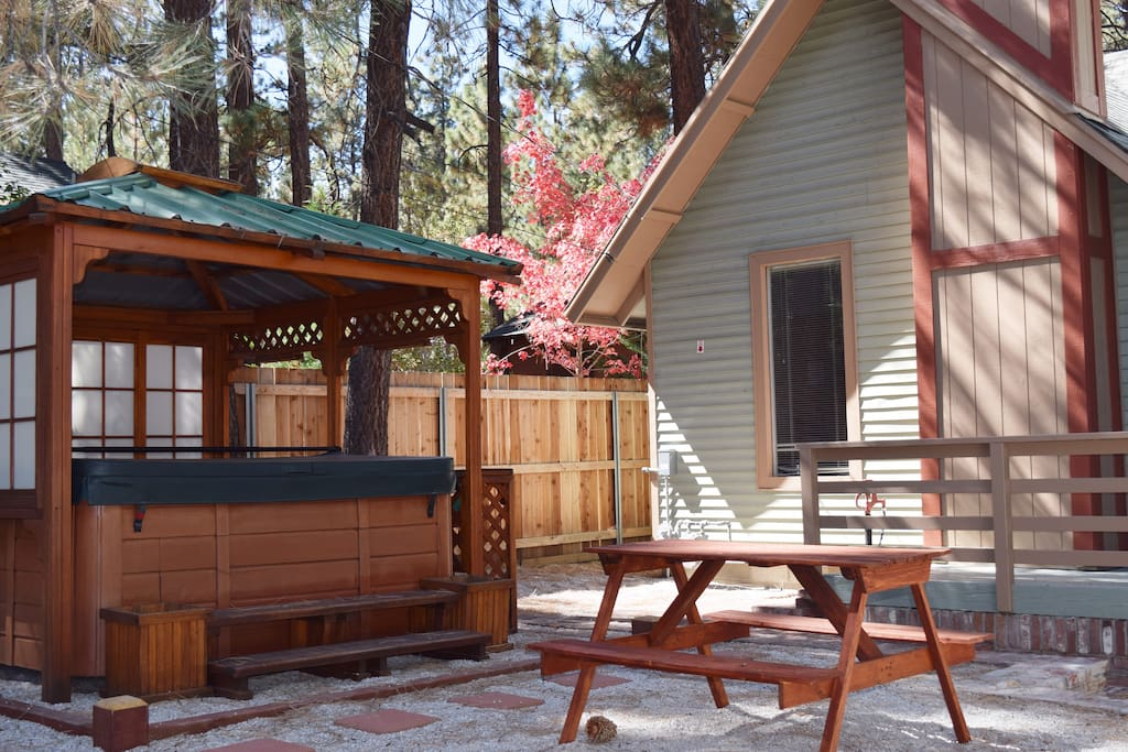 Whole cabin spa 3 min from lifts lake village cabins for Big bear village cabins