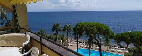 Two terraces overlooking the Mediterranean