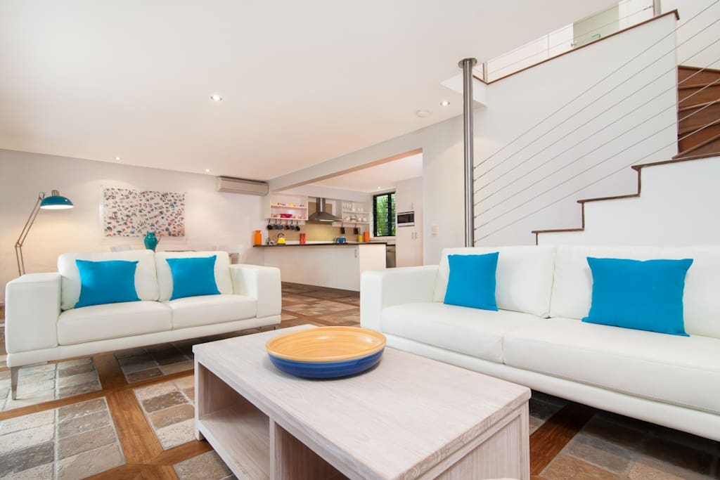 Lounge with large TV and sky channels on the ground floor