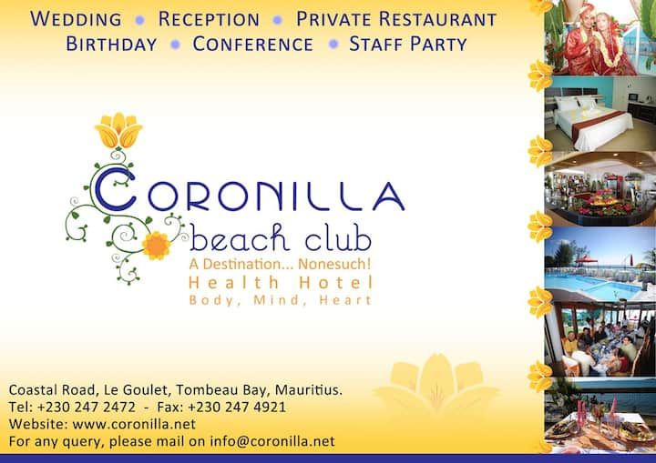 Coronilla Beach Club, Guesthouse and Events
