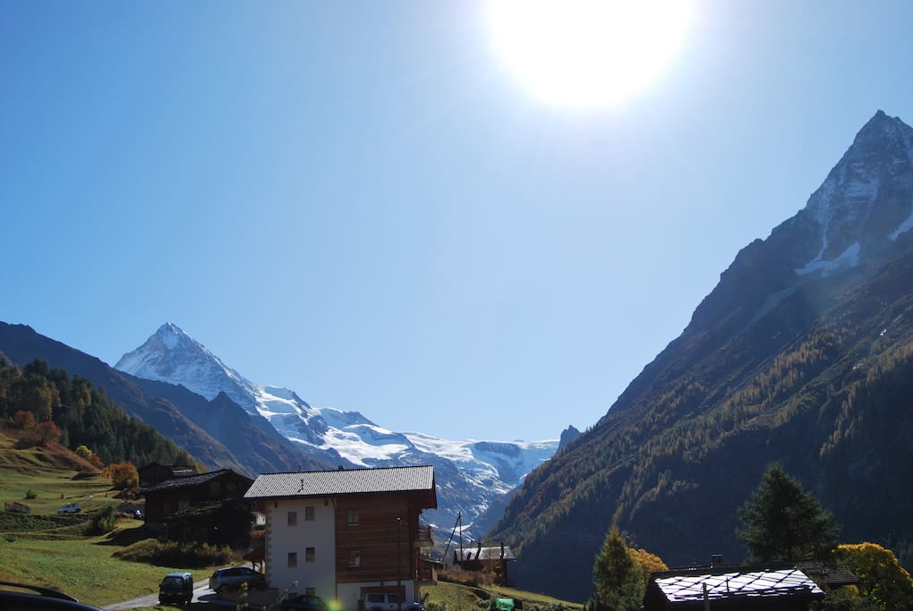 View from Chalet to Dent Blanche 4357m