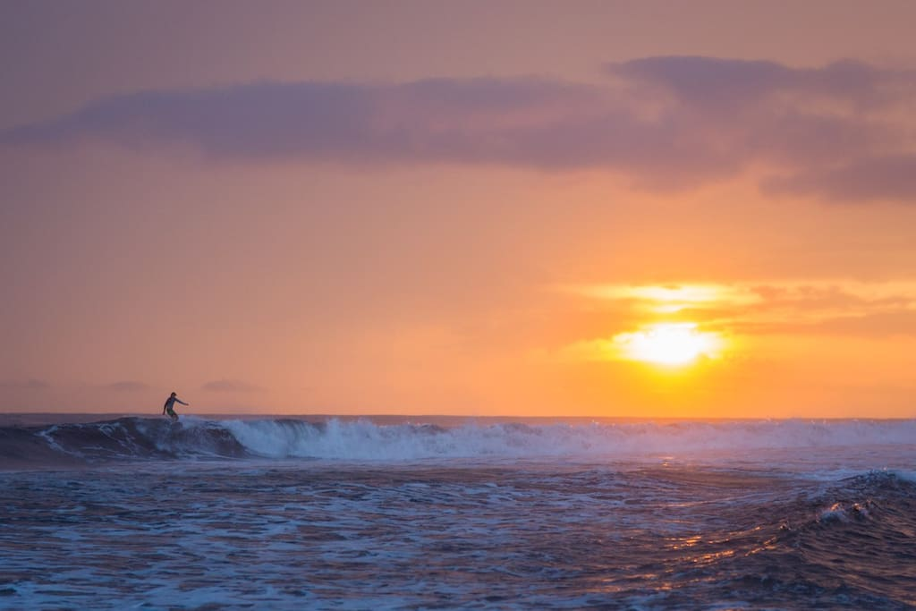 Great Sunsets, Fun Waves