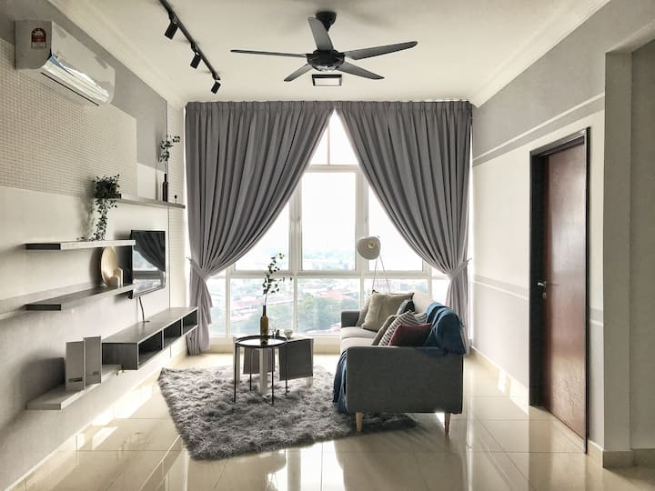 KL40, 2BR with 30mbps at Jalan Kuching (5 pax)