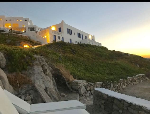 budget room in front of the sea