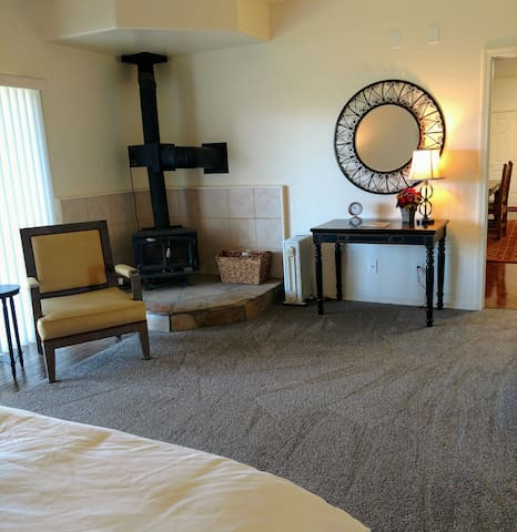 master bedroom; if you are on business a perfect spot for your lap top