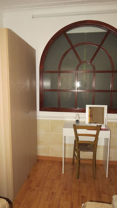 Spare Bedroom with wardrobe and dressing table
