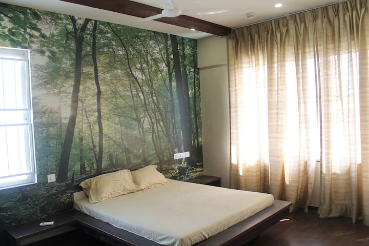 3 Bhk Fully Furnished Flat With Ac Master Bedroom Official Apartment In India 3 Bedroom 3 Bathroom
