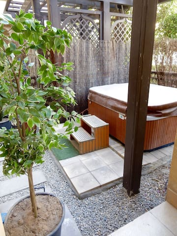 private Jacuzzi in the garden