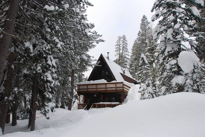 Ski home to this lovely A-Frame Cabin