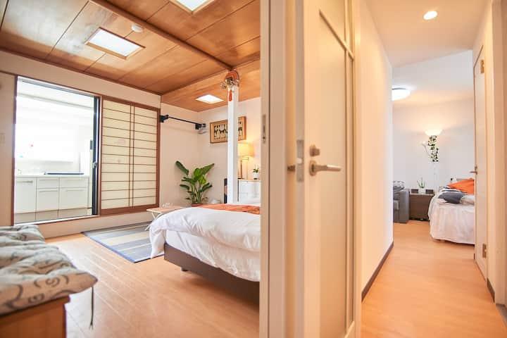 新宿1分超好位置、最顶层独层公寓、视线好,卫生间2个,浴室2个,房间3个whitehouse701