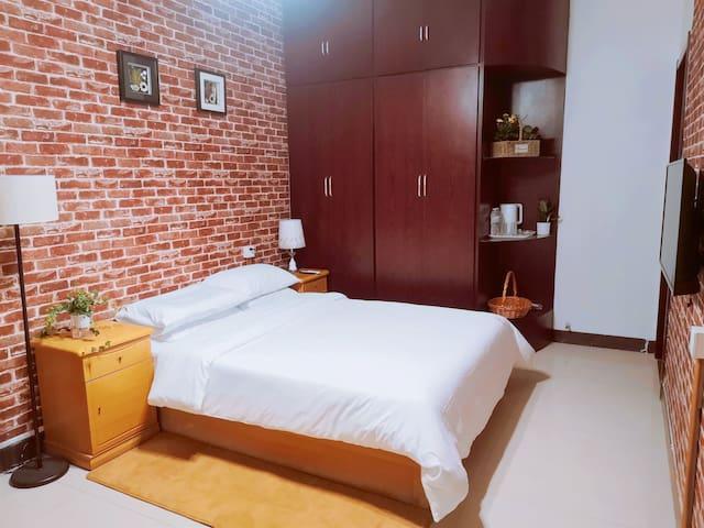 青州古城花园小墅归晴民宿大床房(素尘)(公共卫生间)