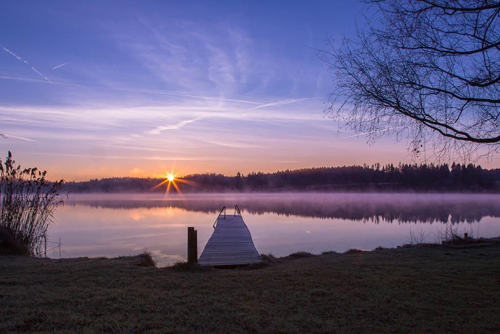 Pelhamer-See, Morgenstimmung
