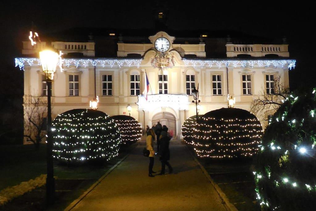 Nearby Libeň Castle