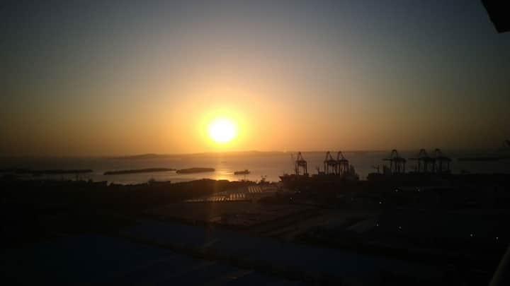 Hermoso alojamiento con vista a la bahía