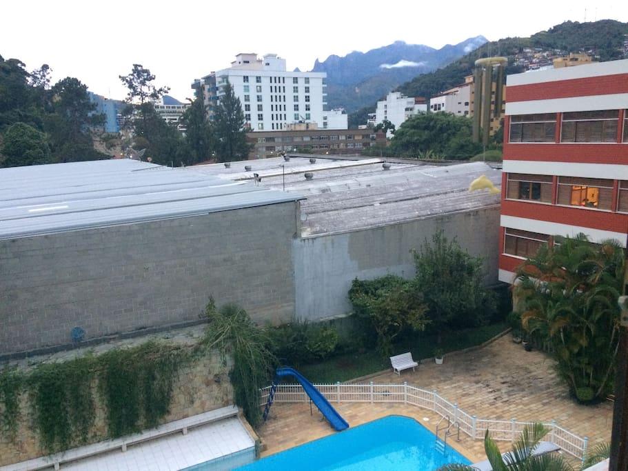 Vista da Sala para a piscina