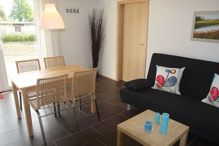 Modern, furnished holiday home with large garden