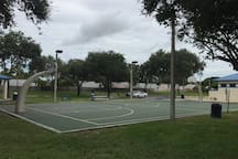 Neighborhood basketball courts