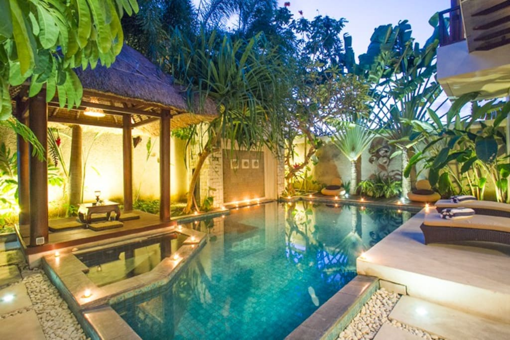 Relaxing Area :Pool, Gazebo, Sunbathing Spot