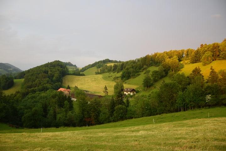 Jura-Höhenweg, Bauernhof, Stille,