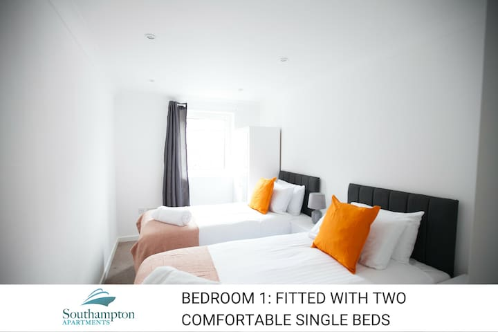Stay in Southampton comfy 2 bed  apt with parking