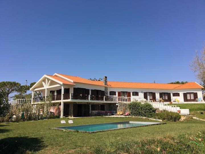 Elemental Ericeira - Surf Villa - garden & pool