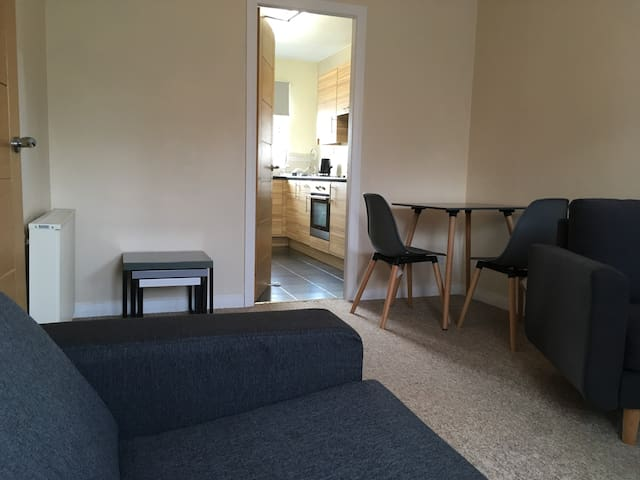 Newly-furnished Edinburgh flat, sleeps 3, parking