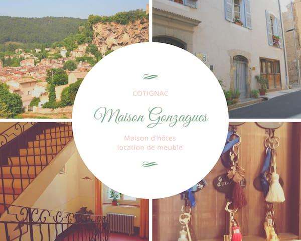 L'un des derniers hôtel particulier de cotignac datant de 1749, vous accueil pour un séjour de charme.