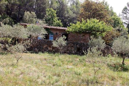 cabanon provencal en pierre - Aups