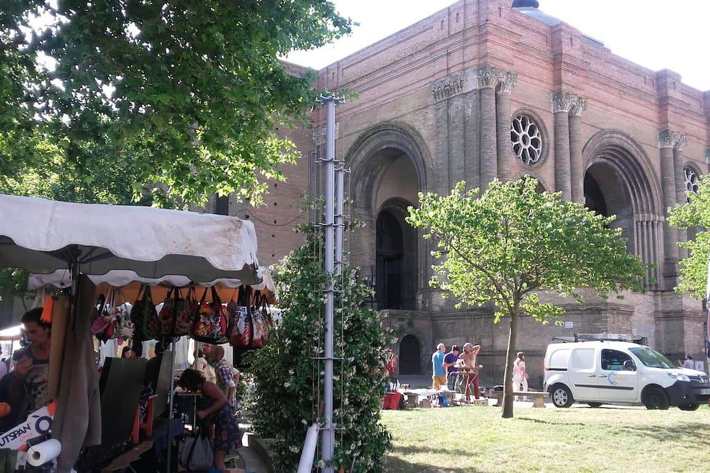 Saint-Aubin jour de marché