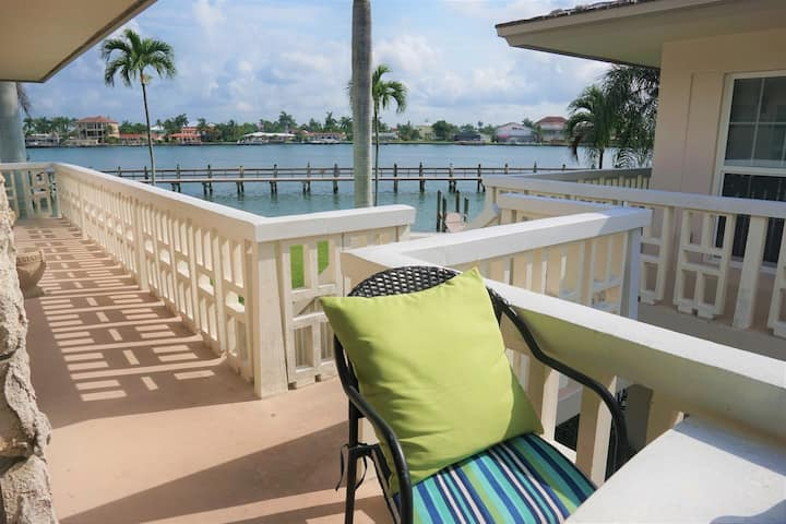 Beautiful water view unit on the Marco River