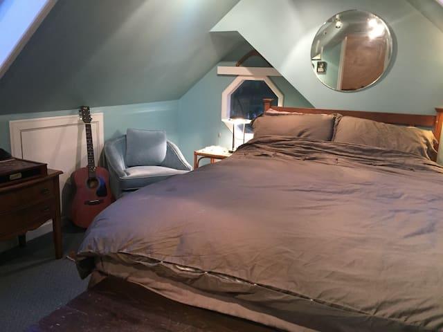 Cozy, private loft + sitting room