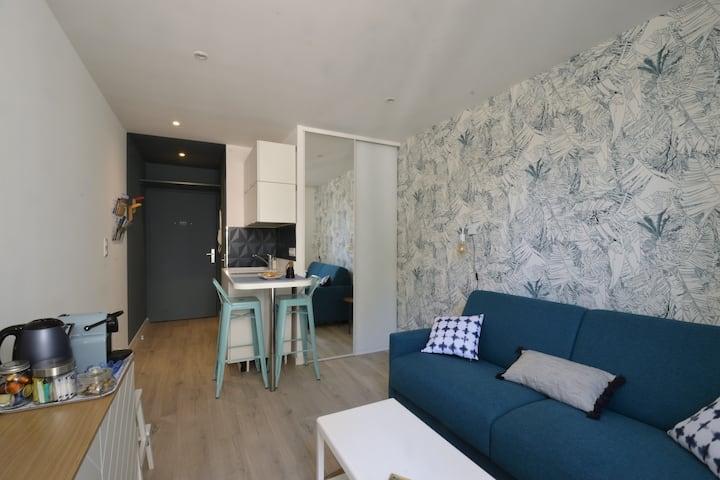 ★ BLUE de Nîmes ★ Studio proche Arènes avec balcon