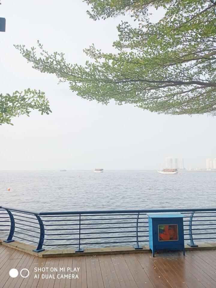 jakarta bay sea view apartment