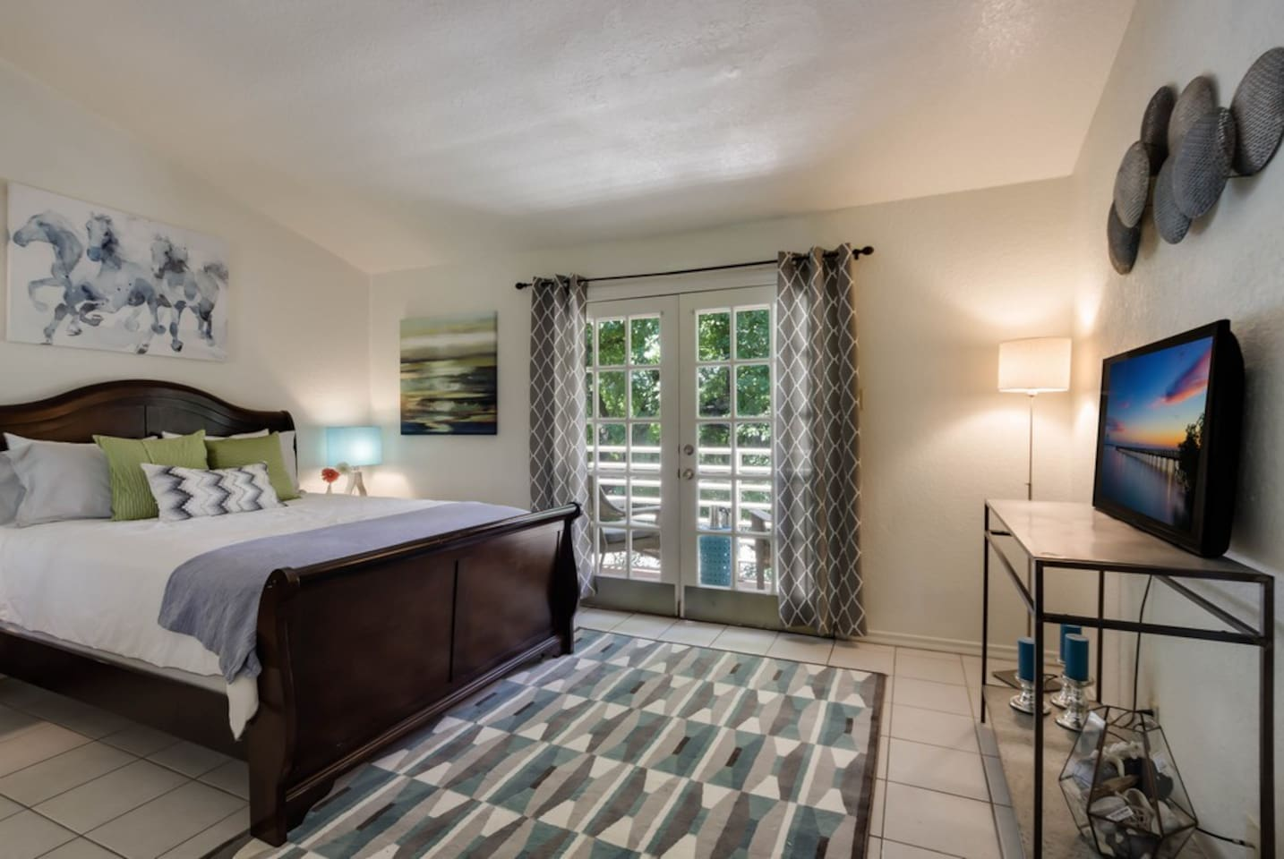Private Bedroom with Balcony, Full Bath inside the Bedroom, WIFI and TV with Netflix for movies and SLING TV for Live TV.