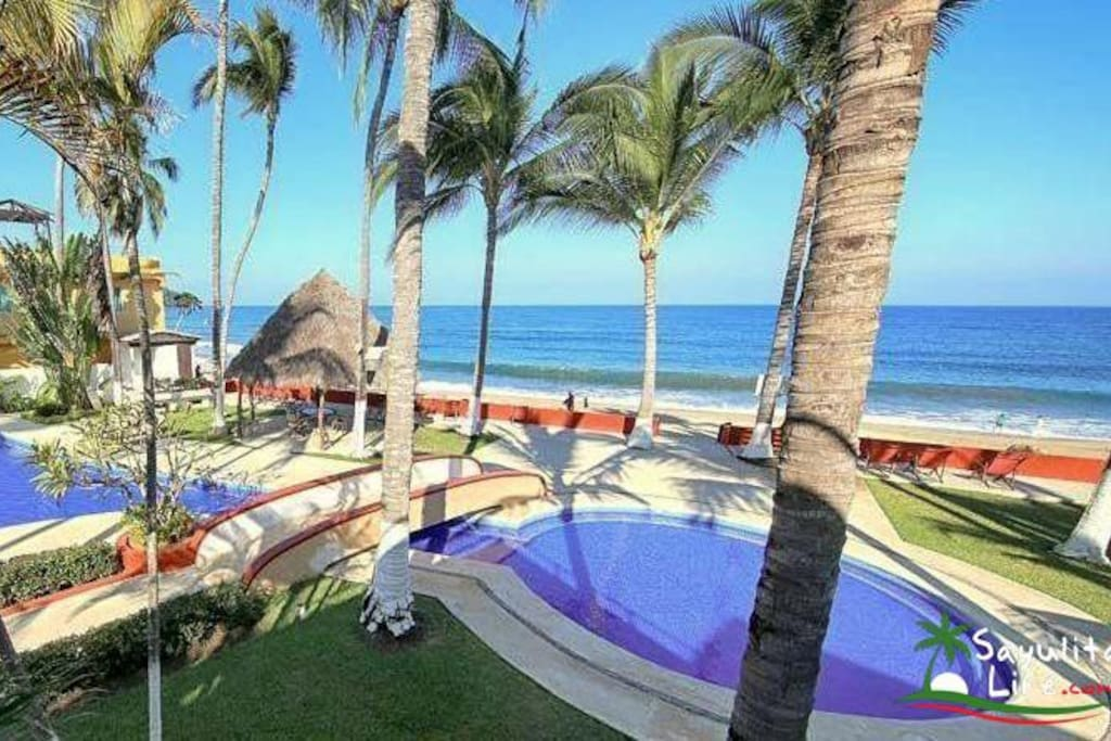 Blue bamboo 1 villas del palmar houses for rent in for Villas sayulita