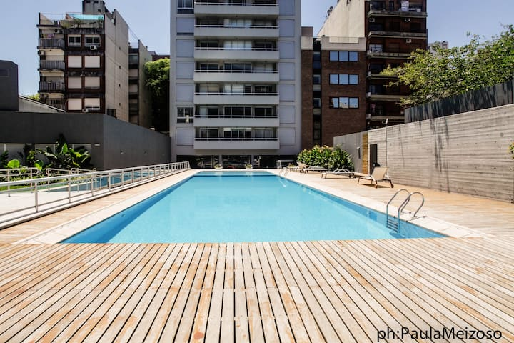 5★´s NEW Apartment w/ BalconY, PooL, GyM @ PALERMO