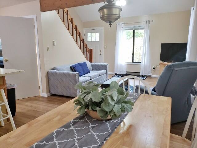 Main Level: Dining Room into Living Room