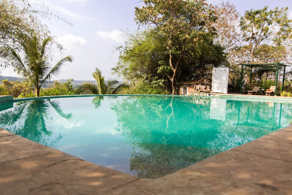 Infinity Swimming Pool on the property