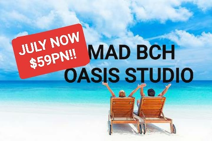 Mad Bch Oasis Studio**JULY SPECIAL**$59 PN**