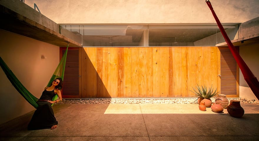 Casa Meztitla - Green Hammock Room - Tepoztlán - Casa