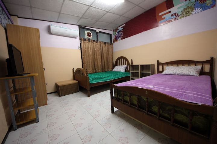 Private bedroom with all the necessary facilities including a multimedia center with fast internet connection, huge TV/Monitor and smart oriental decoration. The best private space for nice relaxing after a busy day .